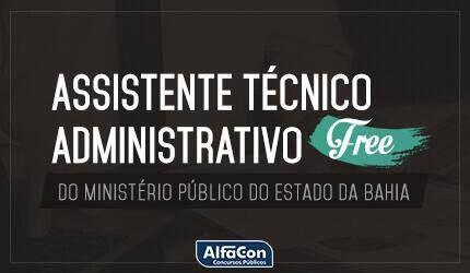 Assistente Técnico Administrativo do Ministério Público Do Estado Da Bahia - MP BA - FREE