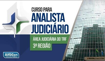 TRF 3ª Região - Analista Judiciário Área Judiciária do Tribunal Regional Federal da 3ª Região