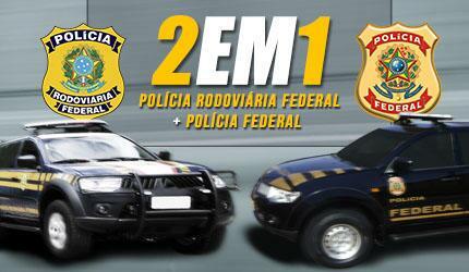 2 EM 1: Agente de Polícia Federal (PF) + Polícia Rodoviária Federal (PRF)