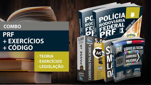Combo Polícia Rodoviária - PRF + Exercícios + Código