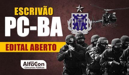 Escrivão de Polícia Civil do Estado da Bahia - PC BA