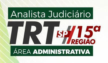 TRT SP (15ª Região) - Analista Judiciário - Área Administrativa