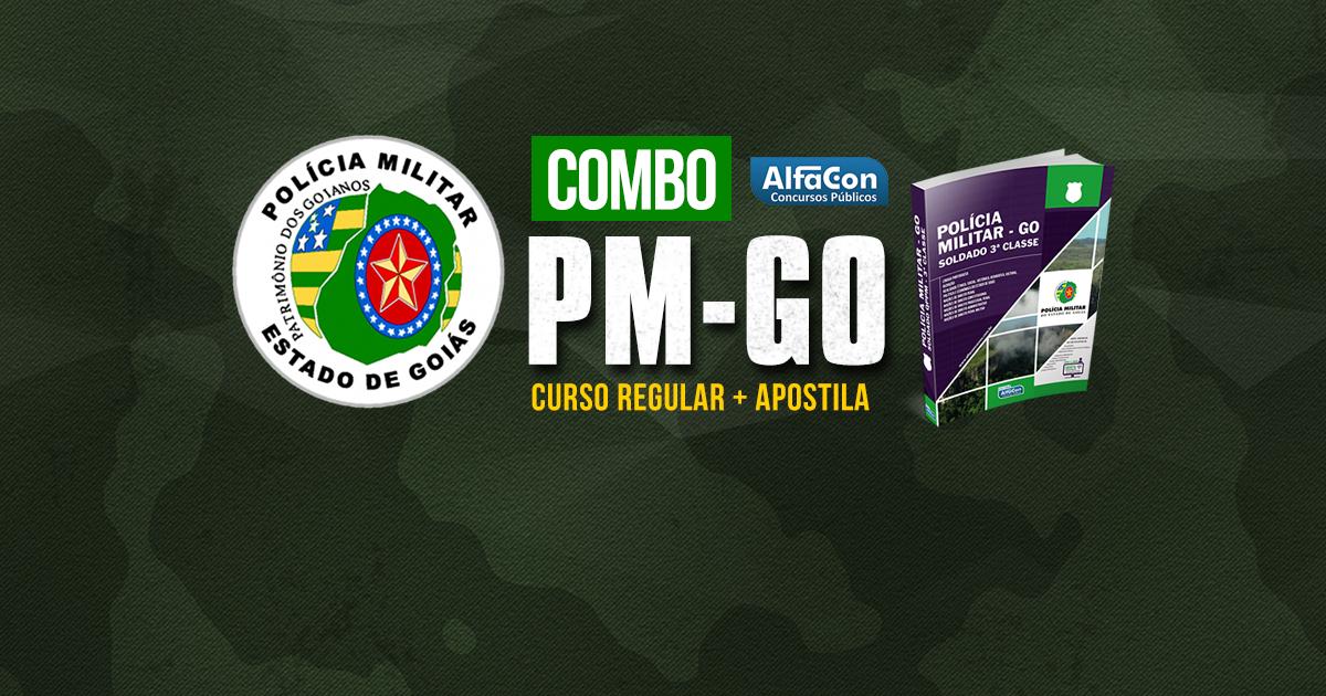 Combo PM GO - Soldado de Polícia Militar do Goiás