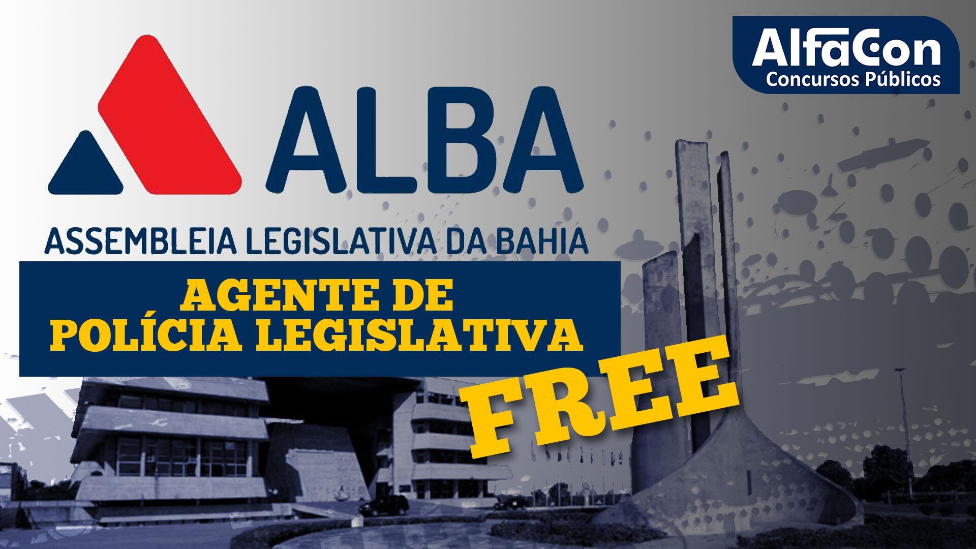 ALBA - Agente de Polícia Legislativa da Assembleia Legislativa da Bahia - Gratuito