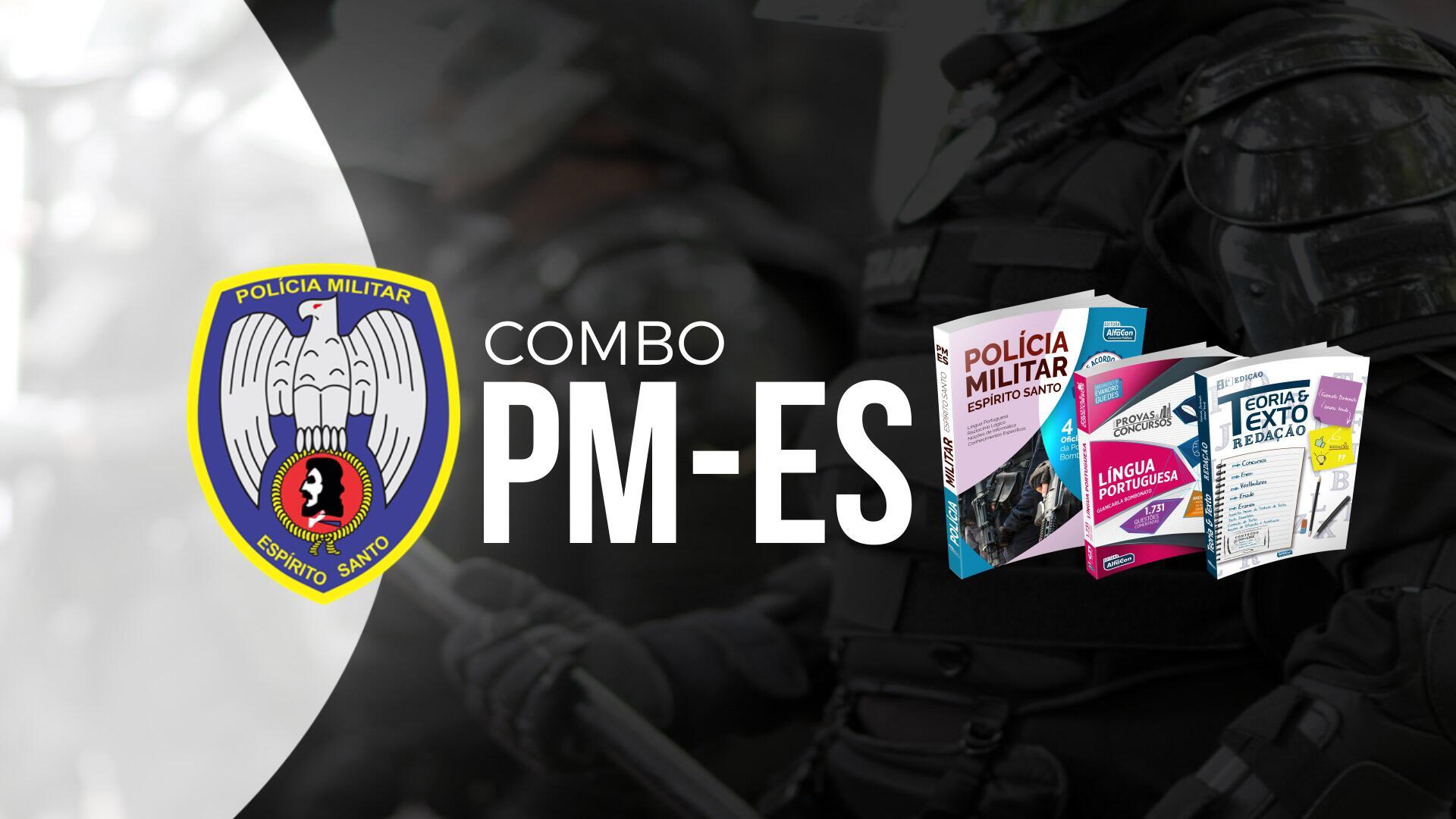 Combo PM ES - Soldado da Policia Militar do Espirito Santo