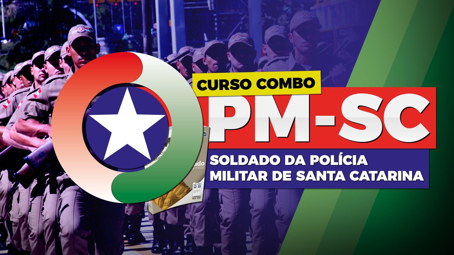 Combo PM SC - Soldado da Polícia Militar de Santa Catarina