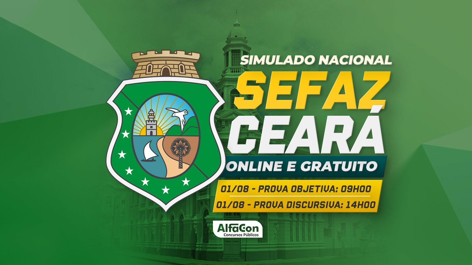Simulado Sefaz CE - GRATUITO
