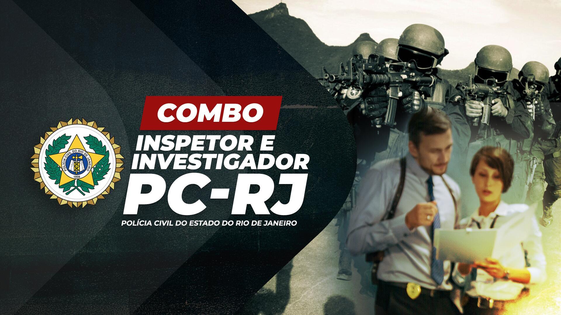 PC RJ - 2 em 1: Inspetor e Investigador da Polícia Civil do Rio de Janeiro